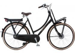 Cortina E-U4 Transport 8V Jet Black Matt Damesfiets