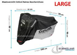 Oxford Rainex Beschermhoes Scooter/Motor- Large